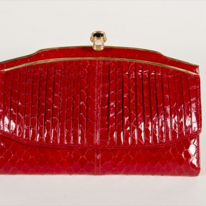 Judith Leiber / Lizard Wallet, Jewel Closure
