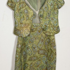 Lolita/Vintage Brocade Dress w/Knotted-Cord Button Jacket
