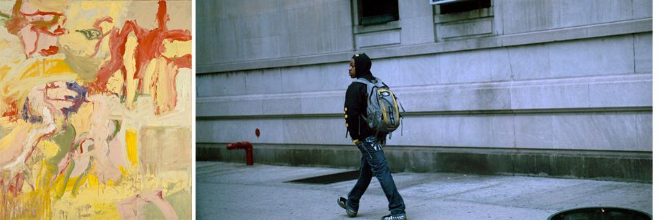(L to R): Willem de Kooning, Montauk 1, 1969; James Nares, STREET (film still), 2012