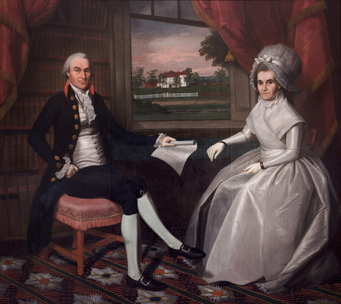 Ralph Earl, <i>Oliver Ellsworth and Abigail Wolcott Ellsworth</i>, 1792, Oil on canvas, 76 x 86 3/4 inches, Gift of the Ellsworth Heirs, 1903.7