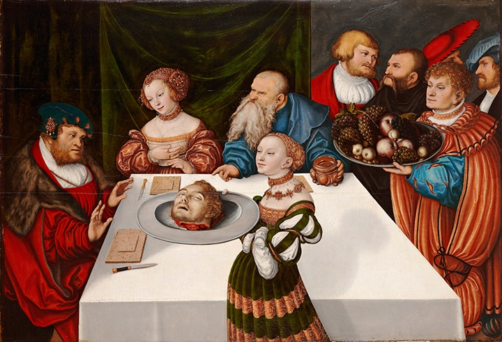 Lucas Cranach the Elder, <i>The Feast of Herod</i>, 1531, Oil on panel, 32 x 47 1/8 inches, The Ella Gallup Sumner and Mary Catlin Sumner Collection Fund, 1936.339