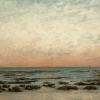 Gustave Courbet, Sunset Effect: The Shore at Trouville, c. 1866