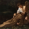 Caravaggio (Michelangelo Merisi), Saint Francis of Assisi in Ecstasy, c. 1595-96