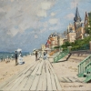 Claude Monet, The Beach at Trouville, 1870