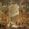 Giovanni Paolo Panini, Interior of a Picture Gallery with the Collection of Cardinal Silvio Valenti Gonzaga, 1749