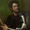 Sebastiano del Piombo, Portrait of a Man in Armor, c. 1512