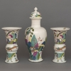 Meissen Manufactory, Garniture of Two Beakers and Three Covered Vases, 1725-30