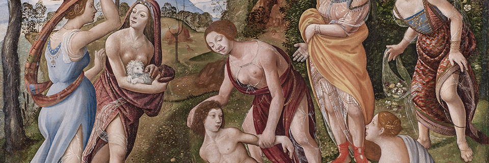 Piero di Cosimo, The Finding of Vulcan [cropped], c. 1490, Wadsworth Atheneum Museum of Art, 1932.1. support_web header