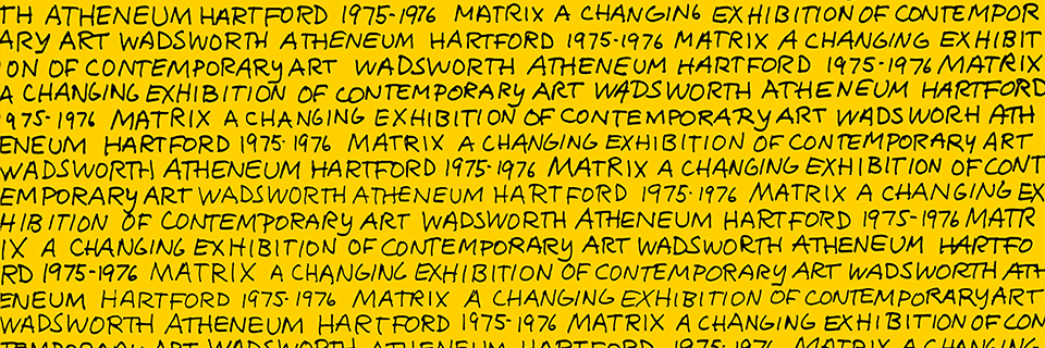 Sol LeWitt, MATRIX Poster [detail], 1974, Color lithograph and paper, 1994.46.2, Wadsworth Atheneum Museum of Art_MATRIX web header