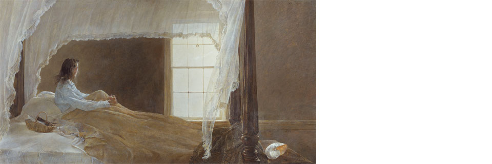 © Andrew Wyeth, Chambered Nautilus, 1956, tempera on panel. Gift from the Collection of Mr. and Mrs. Robert Montgomery, 1979.168.