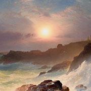 Frederic Edwin Church (American, 1826–1900), Coast Scene, Mount Desert, 1863