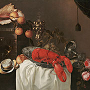 The Elements of Art: Texture, Jasper Geeraerds (Flemish, active in Holland, 1620-1654), Still Life with Lobster, c. 1645