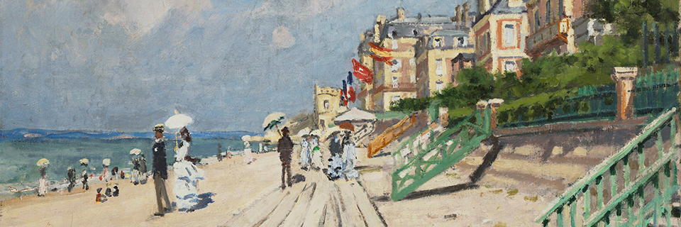 Claude Monet, The Beach at Trouville [detail], 1948.116_medieval-to-monet-web-header