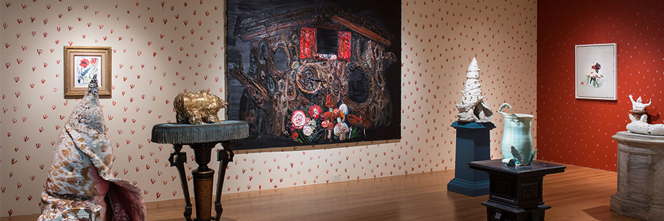 Allison Schulnik / MATRIX 168, Feb 6 - May 4, 2014, Installation view, photo by Allen Phillips, Wadsworth Atheneum Museum of Art_web header