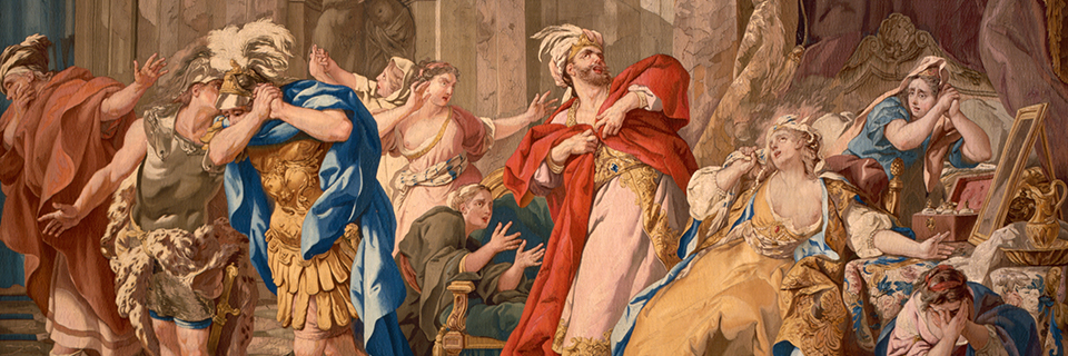 Creusa Consumed by the Poisoned Robe [detail], French, 1789. Jason Tapestries_wadsworth atheneum museum of art_web header