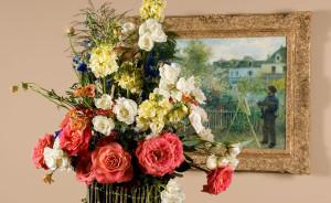 Fine Art & Flowers, Pierre-Auguste Renoir, Claude Monet Painting in his Garden at Argenteuil, 1873
