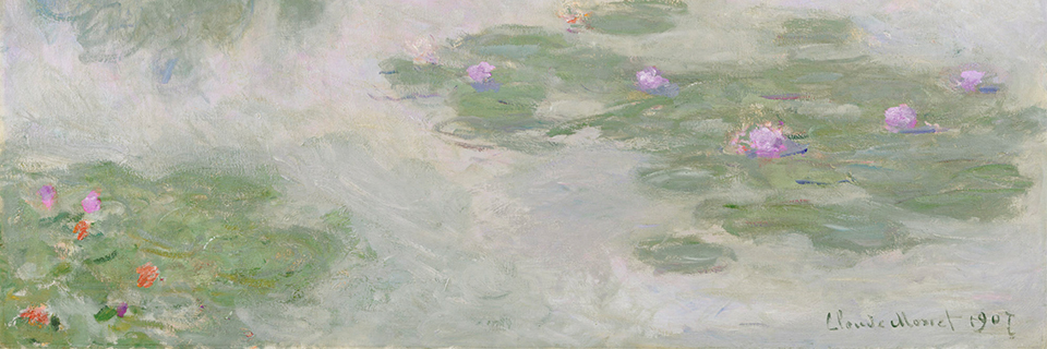 Claude Monet, Nymphéas (Water Lilies) (detail), 1907, Oil on canvas, Bequest of Anne Parrish Titzell, 1957.622