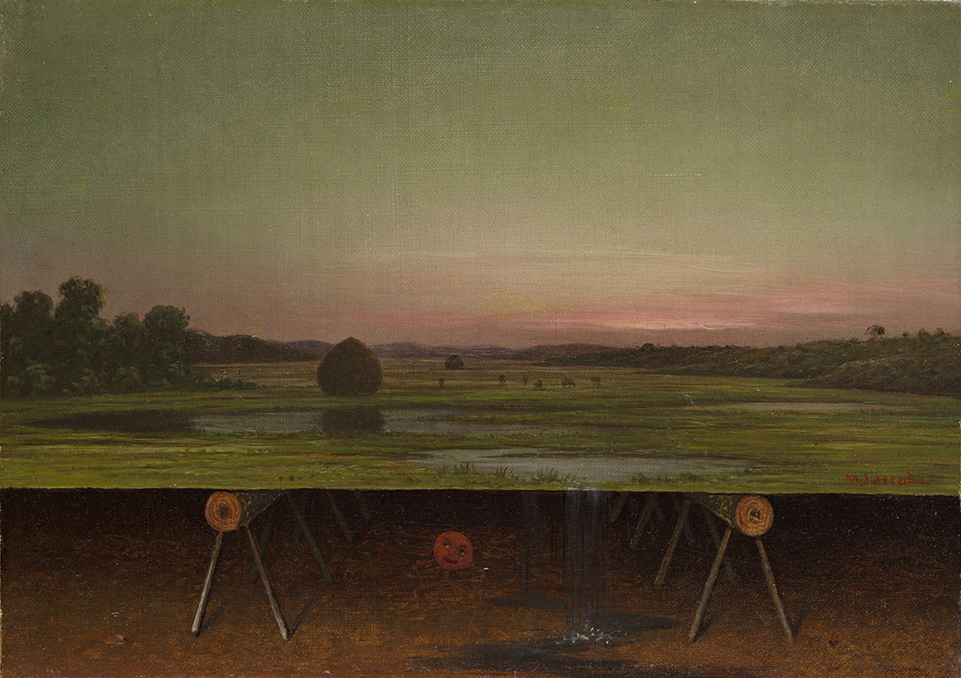 Martin Johnson Heade, Gremlin in the Studio, c. 1865-75, Oil on canvas, The Dorothy Clark Archibald and Thomas L. Archibald Fund, 1997.29.1