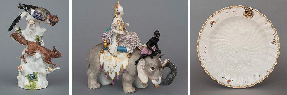 Images of artworks in Miniature World in White Gold: Meissen Porcelain by Johann Joachim Kaendler