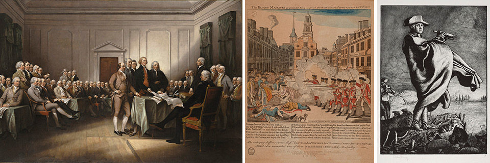 images of artworks in the exhibition John Trumbull: Visualizong American Independence