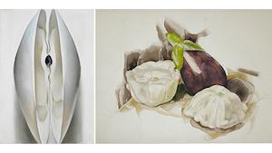 Works by Georgia O'Keeffe and Charles Demuth