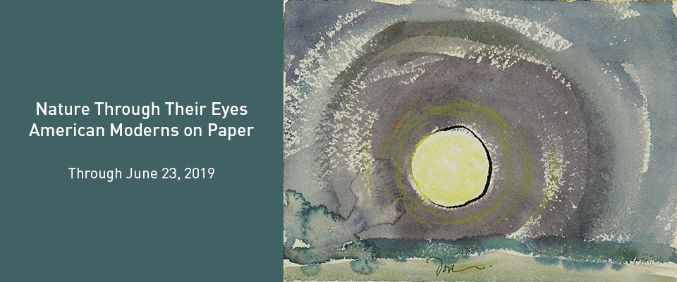 Nature Through Their Eyes: American Moderns on Paper is on view through June 23, 2019