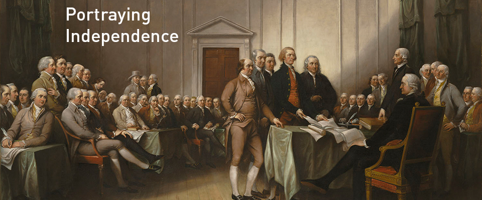 John Trumbull in Portraying Independence exhibition slider