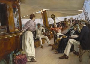 "On the Yacht ""Namouna,"" Venice (detail), 1890. Oil on canvas. The Ella Gallup Sumner and Mary Catlin Sumner Collection Fund, 1965.32"