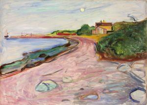 Edvard Munch, Norwegian, 1863-1944, Aasgaardstrand, c. 1904, Oil on canvas, painting