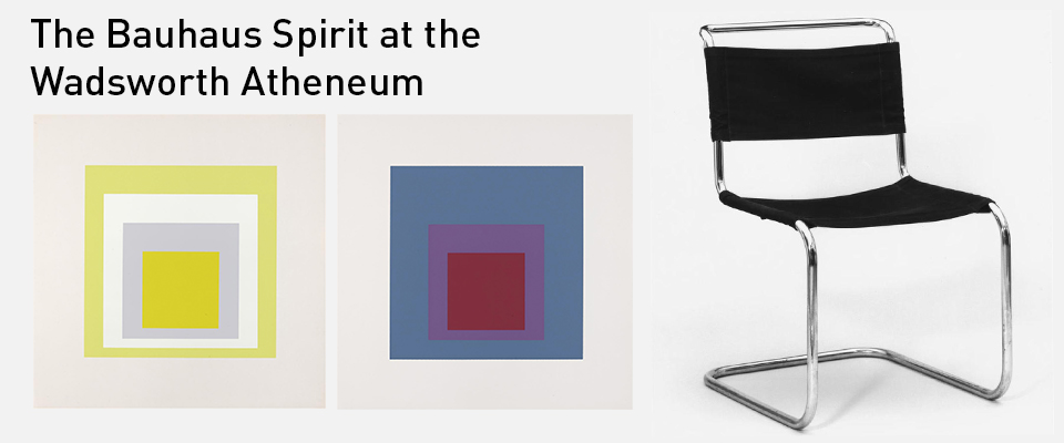 The Spirit of the Bauhaus at the Wadsworth Atheneum web banner