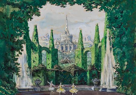Alexandre Benois, Set Design for Scene 2 of Le Pavillon d'Armide, 1909