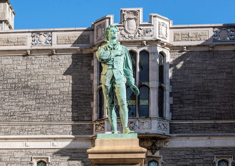 Enoch Woods's, Nathan Hale installed outside the Wadsworth