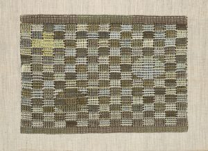 Anni AlbersAmerican, born Germany, 1899-1994In Orbit, 1957Wool16 3/8 x 23 ¼ in. Wadsworth Atheneum Museum of ArtBequest of Nina H. Stanley, 1990.58