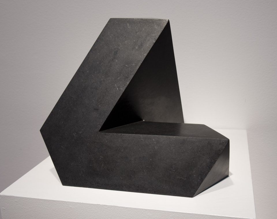 Tony Smith Spitball, 1961 Black marble; Edition 2/50 12 ½ x 14 3/8 x 14 ½ in. Wadsworth Atheneum Museum of Art; Gift of the Estate of Marcus Bassevitch, 1993.82