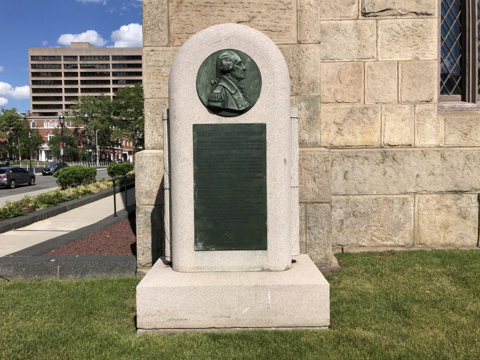 Memorial commemorating General George Washington's visits to Hartford and Wethersfield