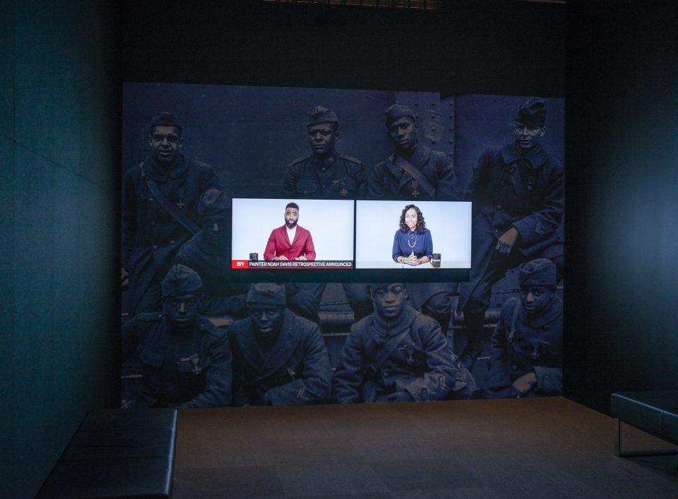 Installation view of Kahlil Joseph / MATRIX 183 / BLKNWS at the Wadsworth, Novermber 2019