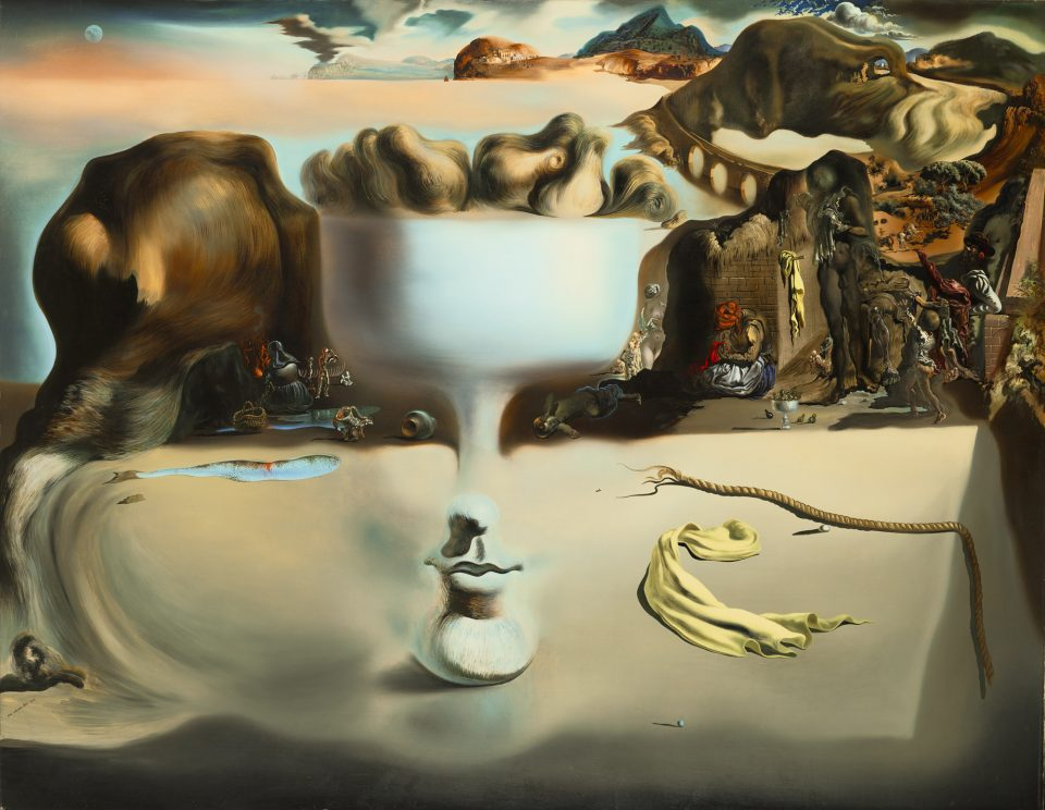Salvador Dali, Apparition of Face and Fruit Dish on a Beach Date: 1938