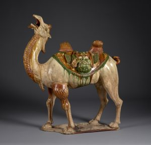 Sepulchral figure of a Bactrian camel Tang dynasty, 8th century