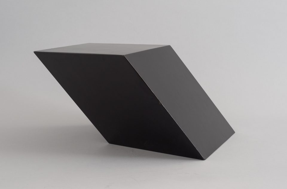 Tony Smith, New Piece, 1966 Wood with lacquer, 10 5/8 x 21 1/4 x 22 9/16 in. Gift of The Robert Mapplethorpe Foundation, Inc., 2014.11.1