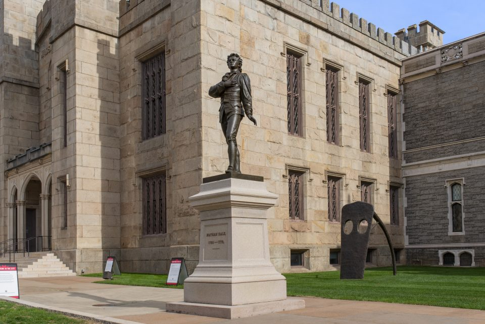 """View of the recently restored """"Nathan Hale"""""""