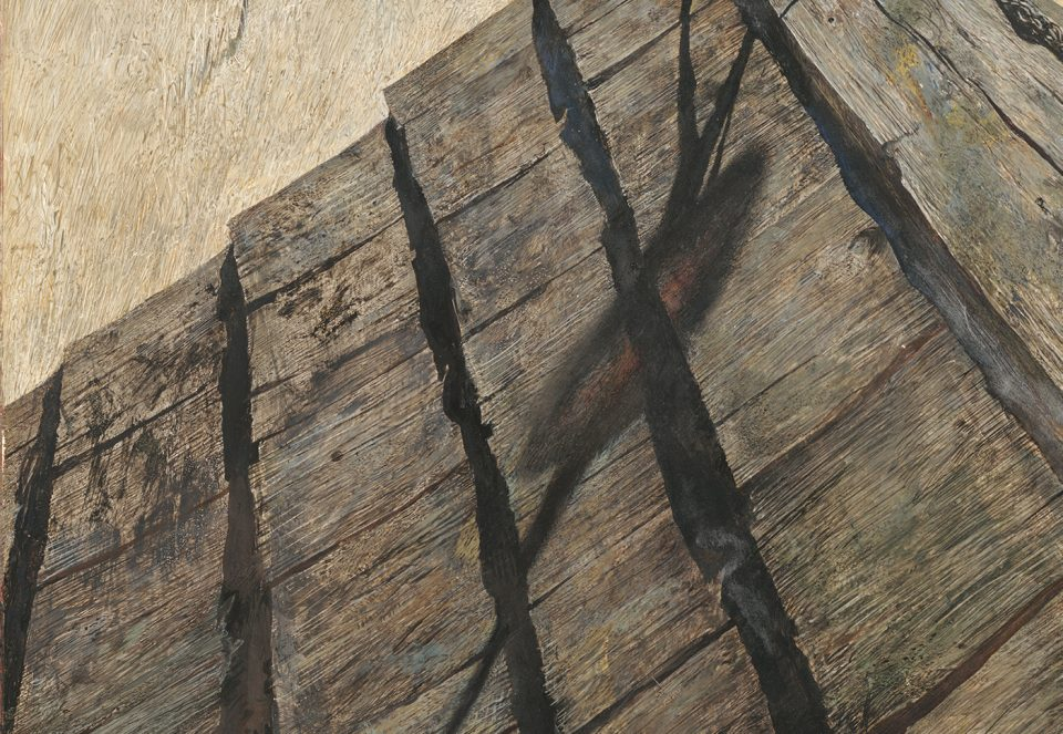 """""""Northern Point"""" detail of roof shingles"""