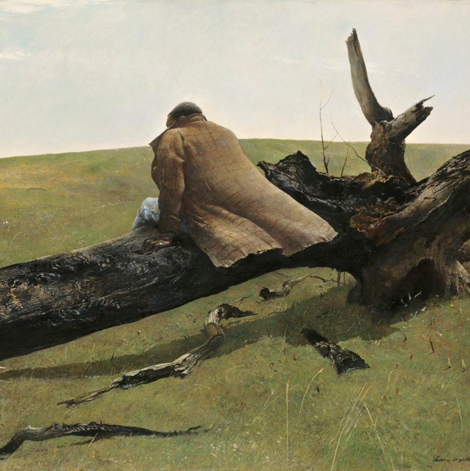 Andrew Wyeth, April Wind, detail