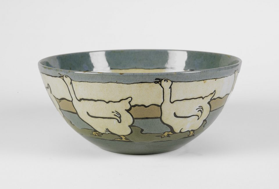 Goose Bowl, August 1914, Paul Revere Pottery of the Saturday Evening Girls' Club