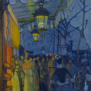 """Detail of Louis Anquetin, """"Avenue de Clichy (Street—Five O'clock in the Evening)"""", 1887"""