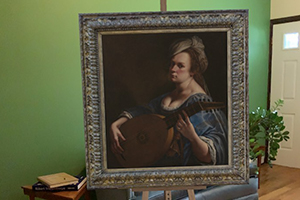 Artemisia Gentileschi's Self Portrait as a Lute Player in BLVRD Features app.