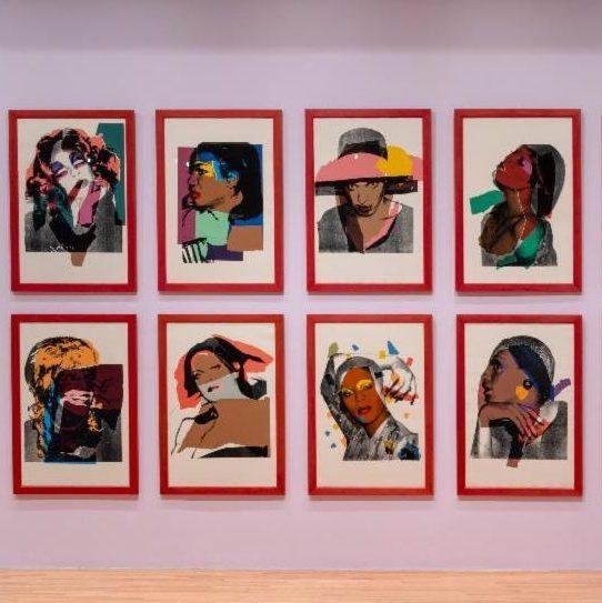 Installation view of Andy Warhol, Ladies and Gentlemen Portfolio