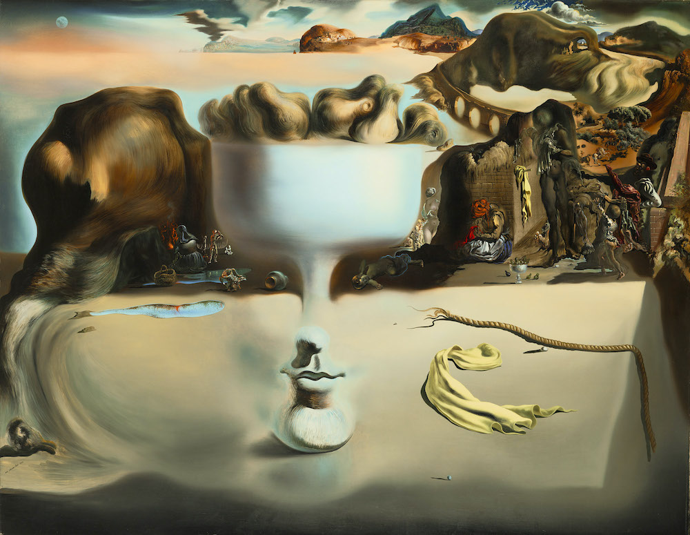 """Salvador Dali's """"Apparition of Face and Fruit Dish on a Beach"""""""