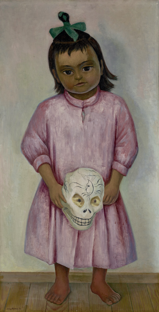 """Diego Rivera's """"Young Girl with a Mask"""""""