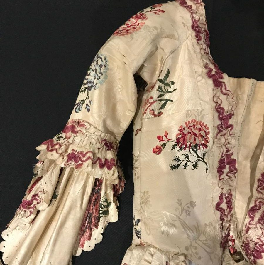 An Eighteenth Century Wedding Ensemble detail