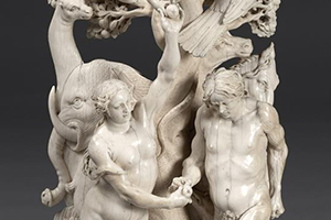 Detail of Master of the Martyrdom of St. Sebastian, South Germany-Austria, The Fall of Man, c. 1630-50, Ivory,